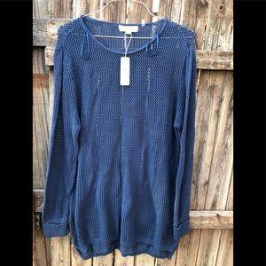 Simple Noelle size XXL16-18 loose knit navy blue